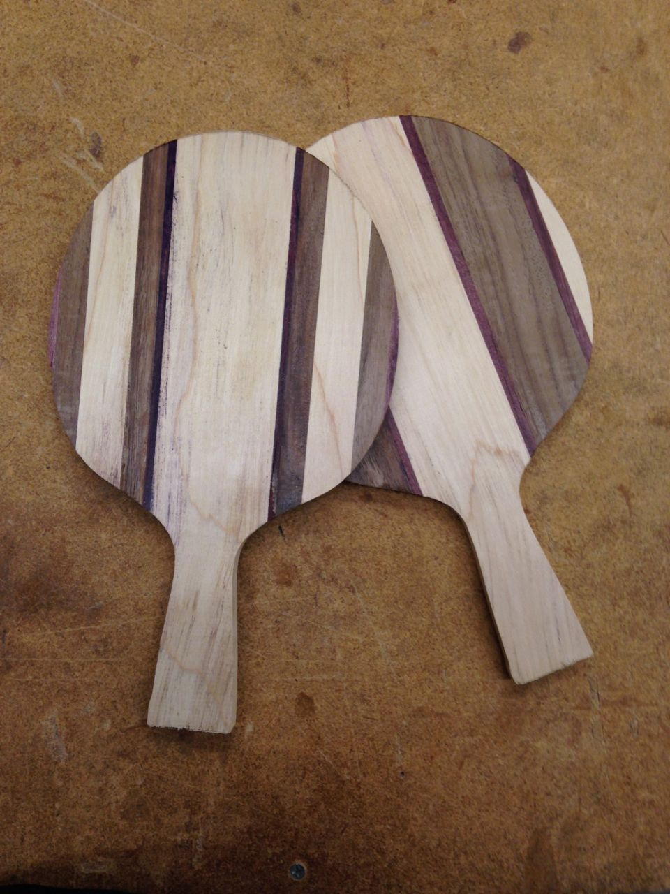 Custom laminated ping pong paddles david bordow for Custom laminations